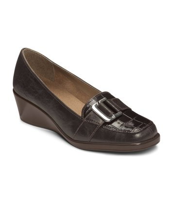 Brown Crocodile Temptress Loafer