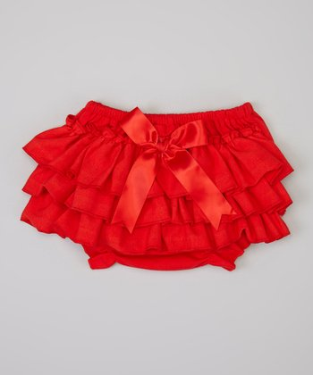Red Ruffle Diaper Cover - Infant & Toddler