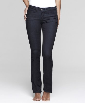 Dark Evening Shaper Straight-Leg Jeans - Women