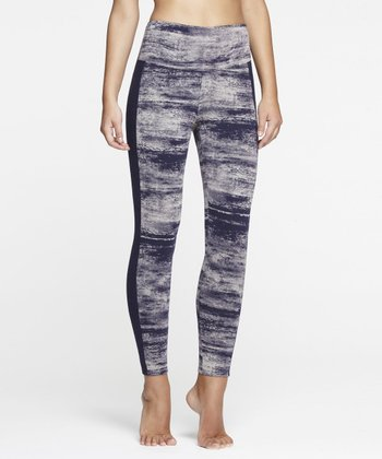 Midnight & White Shaper Leggings - Women