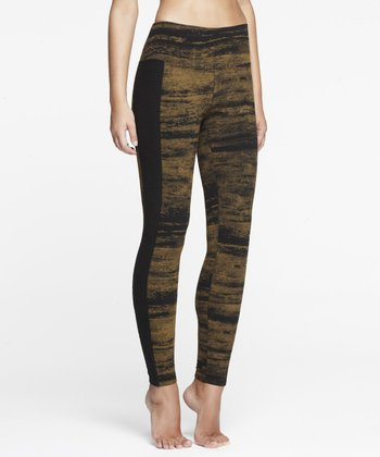 Black & Tapenade Shaper Leggings - Women