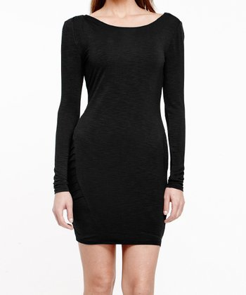 Black Shaper Long-Sleeve Dress - Women & Plus