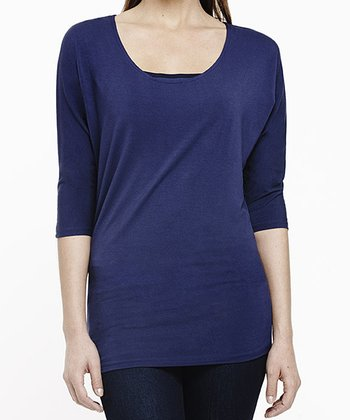 Midnight Indigo Shaper Dolman Top - Women & Plus