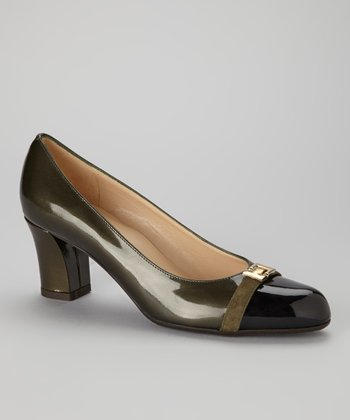 Dark Green Patent Leather Dana Pump
