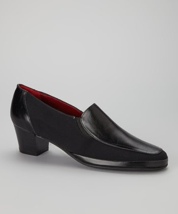 Black Leather Lucky Loafer