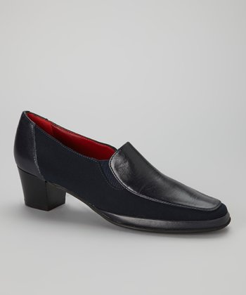 Navy Leather Lucky Loafer