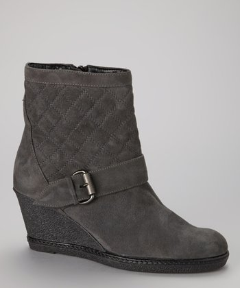 Gray Suede Maga Wedge Boot
