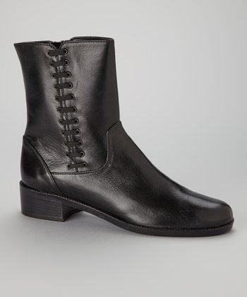 Black Leather Melodia Boot