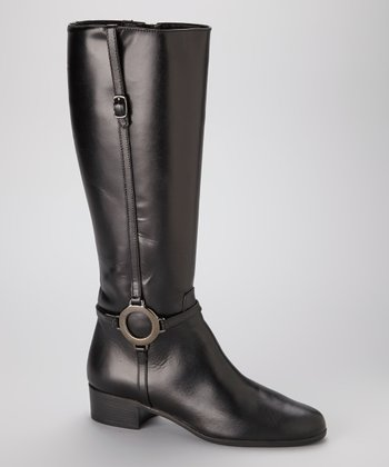 Black Leather Modena Riding Boot