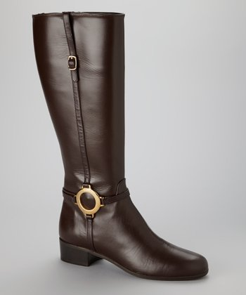 Brown Leather Modena Riding Boot