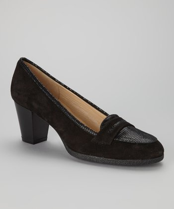 Black Suede Nesia Loafer