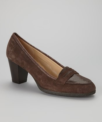 Brown Suede Nesia Loafer