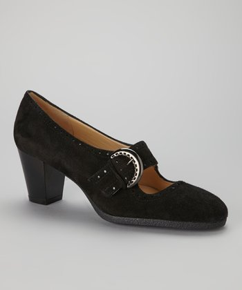 Black Suede Ninon Mary Jane
