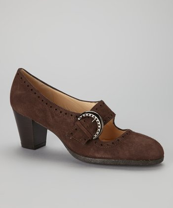 Brown Suede Ninon Mary Jane