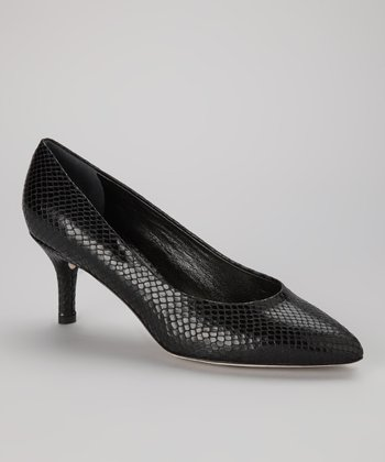 Black Leather Pace Pump