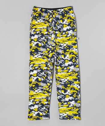 Navy Digi Camo Warm-Up Pants - Boys