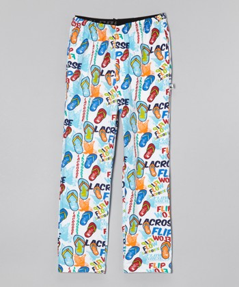 Aqua Flip-Flop Warm-Up Pants - Boys
