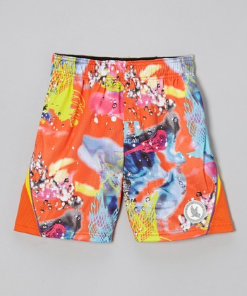 Orange Ebb & Flow Shorts - Kids