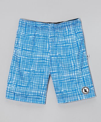 Royal Grid War Shorts - Boys