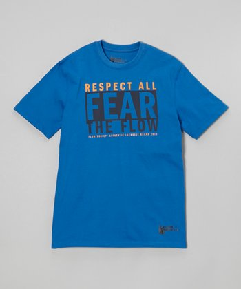 Royal 'Respect All Fear The Flow' Tee - Kids