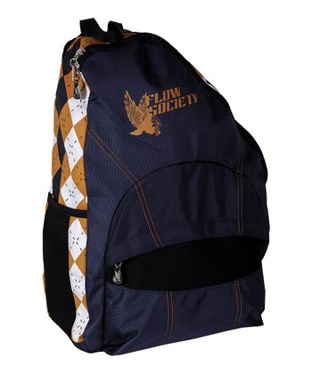 Navy Argyle Sling Backpack