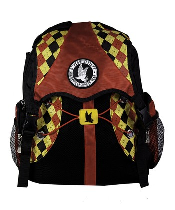 Black & Red Argyle Backpack