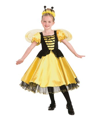 Yellow Royal Honey Dress-Up Oufit - Girls
