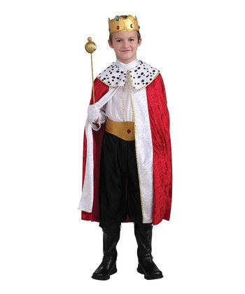Red Regal King Dress-Up Oufit - Boys
