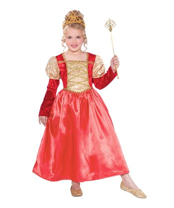 Red Golden Garnet Princess Dress - Toddler & Girls