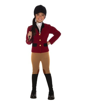 Red Equestrian Rider Dress-Up Oufit - Toddler & Girls
