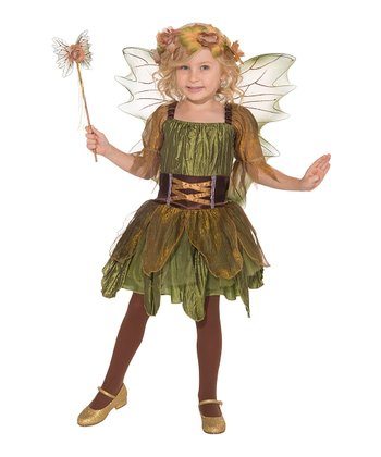 Green Woodland Fairy Dress-Up Oufit - Toddler & Girls
