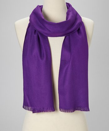 Purple Cashmere Scarf