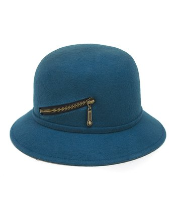 Teal Zipper Wool Hat