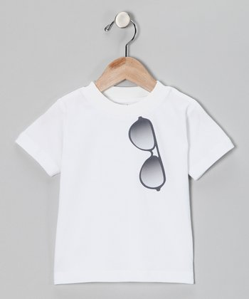 White Aviator Tee - Infant, Toddler & Kids
