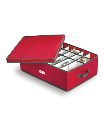 Red 56-Ornament Storage Box
