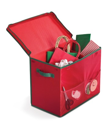 Red Gift Bag Storage Tote