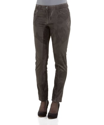 Olive & Dirty Oil Antioneti Straight-Leg Pants