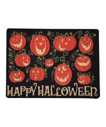 Pumpkin Gathering Outdoor Doormat