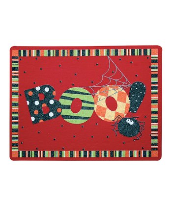'Boo' Spiders Outdoor Doormat