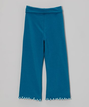 Teal Yoga Pants - Infant, Toddler & Girls