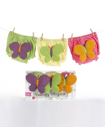 Pink & Yellow Butterfly Diaper Cover Set
