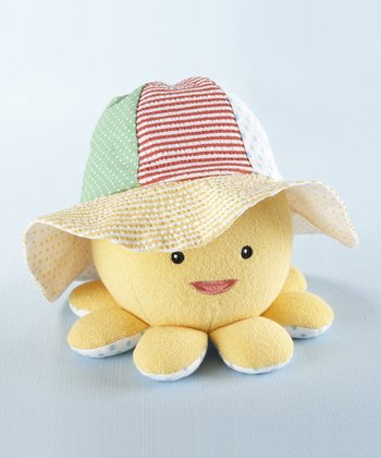 Yellow Little Wader & Sun Shader Sun Hat & Octopus Plush Toy