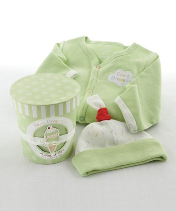 Lime 'Sweet Dreamzzz' Footie & Beanie