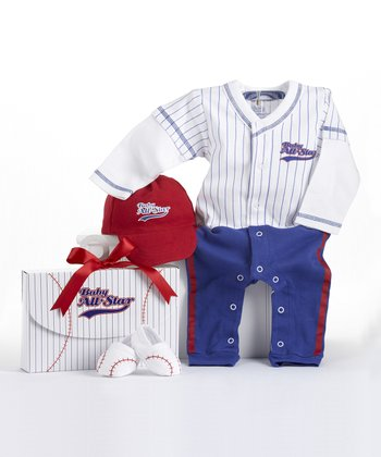 Blue 'Baby All-Star'' Baseball Layette Set
