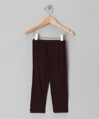 Brown Capri Leggings - Toddler & Girls