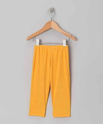 Yellow Capri Leggings - Toddler
