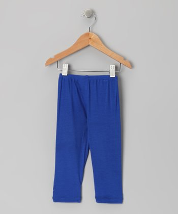 Blue Capri Leggings - Toddler & Girls