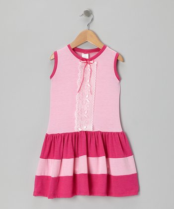 Pink & Fuchsia Lace Dress - Toddler & Girls