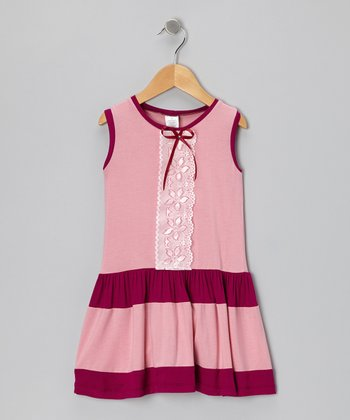 Pink & Plum Lace Dress - Infant, Toddler & Girls