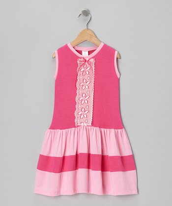 Fuchsia & Pink Lace Dress - Toddler & Girls